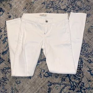 white jeans. not very stretchy.